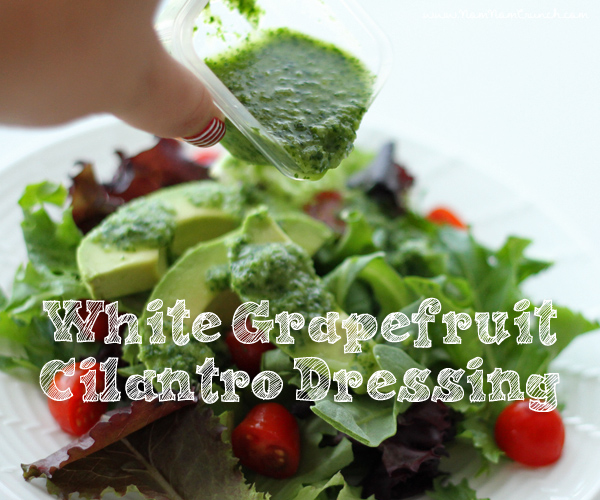 Raw Vegan White Grapefruit Cilantro Dressing via NomNomCrunch.com